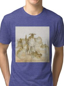 A series of Rabbits at a party by Beatrix Potter Tri-blend T-Shirt