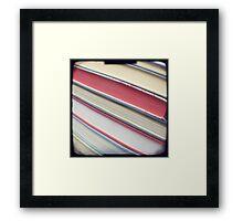 Diagonal red books Framed Print