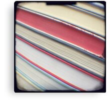 Diagonal red books Canvas Print