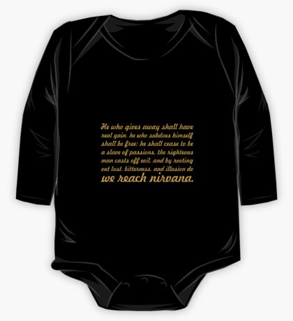 "He who gives away shall have... ""Buddha"" Inspirational Quote One Piece - Long Sleeve"
