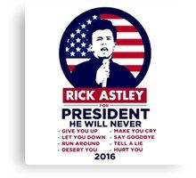 Astley For President Canvas Print