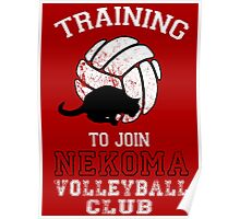 Training to join Nekoma Volleyball Club Poster