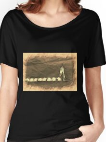 Todos Santos Church in Sepia Women's Relaxed Fit T-Shirt