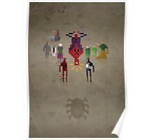 8-Bit Marvels Spiderman Poster