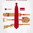 No349 My Shaun of the Dead minimal movie poster by Chungkong