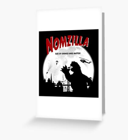 Nomzilla Greeting Card