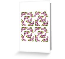 Lilac flowers_pattern Greeting Card
