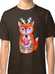 Doll forest fox, hare with fly agaric mushroom. Classic T-Shirt