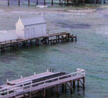 The view from Millionaire's Walk, Sorrento, Mornington Peninsula, Victoria, Australia Sticker