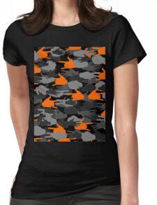 Handy Camo ORANGE Womens Fitted T-Shirt
