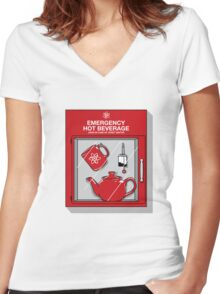 Social Protocol Emergency Women's Fitted V-Neck T-Shirt