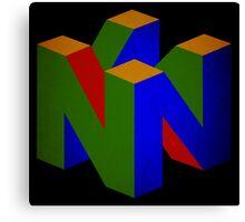 °GEEK° Nintendo 64 Rust Logo Canvas Print