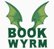 BOOK WYRM (bookworm) Dragon wings Kids Tee