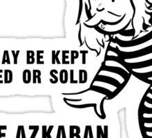 Get Out of Azkaban Free Card Sticker