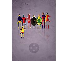 8-Bit Marvels Xmen 2.0 Photographic Print