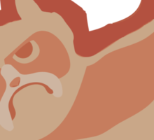 Grumpy King Sticker