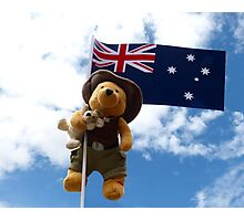 Pooh Bear and Kanga Down Under! Photographic Print