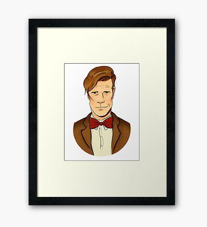 11th Doctor - Matt Smith Framed Print