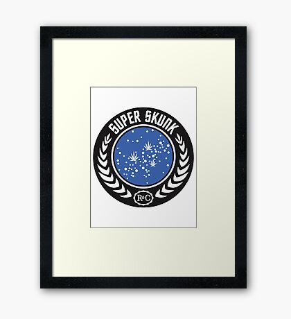 Super Skunk Universe Framed Print