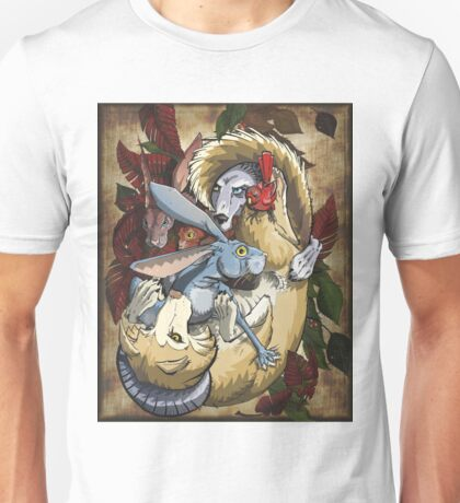 Wolves and Hares Yin and Yang Unisex T-Shirt
