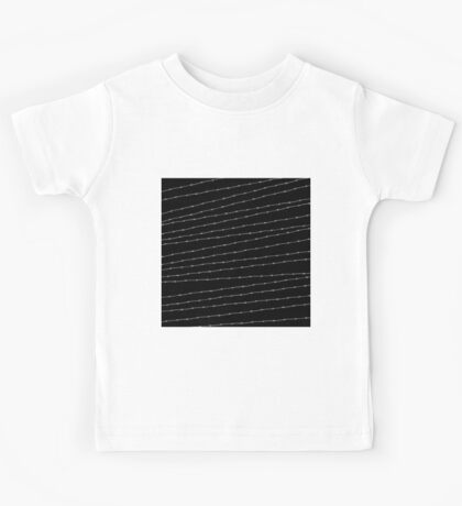 Cool black and white barbed wire pattern Kids Tee