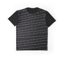Cool black and white barbed wire pattern Graphic T-Shirt