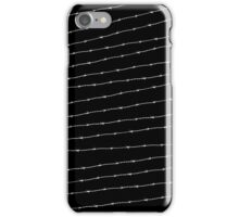 Cool black and white barbed wire pattern iPhone Case/Skin