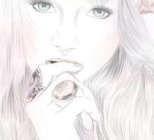 Fairy fantasy girl flowers illustration Sticker