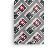 Retro Video Game Pattern Metal Print