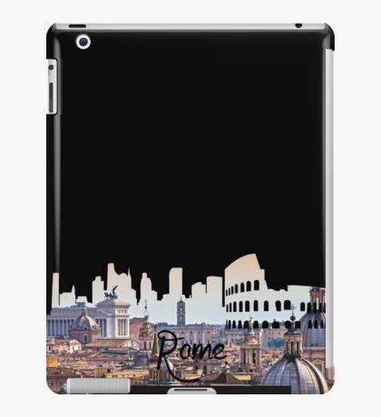 Rome Hill View Black iPad Case/Skin
