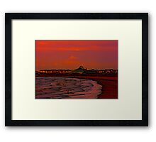 Gormley Statues on the beach at Sunset Framed Print