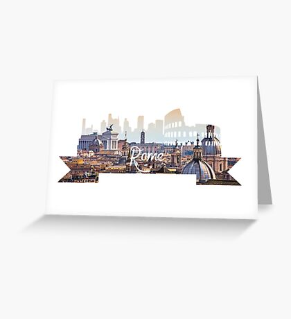 Rome Hill View White Greeting Card