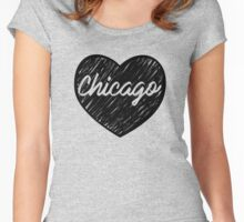 I Love Chicago - I Heart CHI TOWN (Cursive) Women's Fitted Scoop T-Shirt