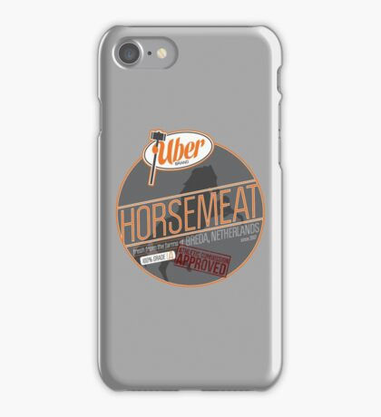 Uber Brand Horsemeat - Plain - with stamp iPhone Case/Skin