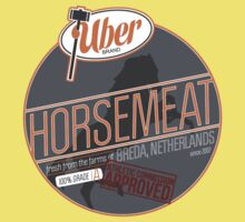 Uber Brand Horsemeat - Plain - with stamp Baby Tee