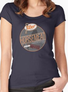 Uber Brand Horsemeat - Plain - with stamp Women's Fitted Scoop T-Shirt