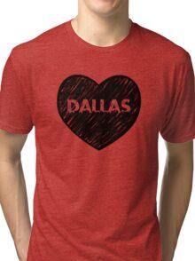 I Love Dallas - I Heart DAL (Urban) Tri-blend T-Shirt
