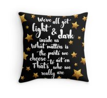 Light & Dark  Throw Pillow
