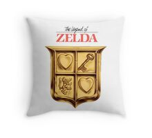 Zelda Logo Throw Pillow