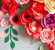 Paper flowers Sticker