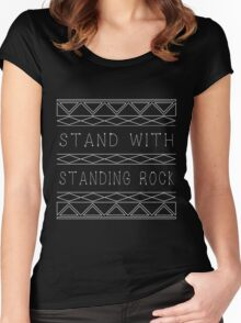 Stand with Standing Rock Women's Fitted Scoop T-Shirt