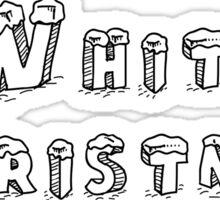 White Christmas Sticker