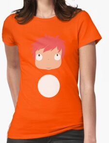 Ponyo likes you! Womens Fitted T-Shirt