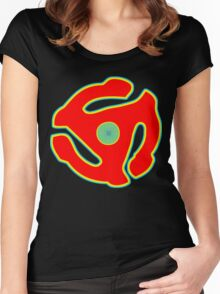 Music 45 Vinyl Holder Turntable Record Women's Fitted Scoop T-Shirt