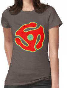 Music 45 Vinyl Holder Turntable Record Womens Fitted T-Shirt