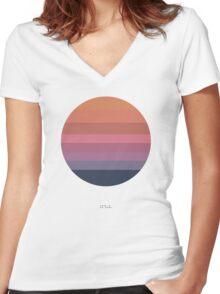 Tycho Awake (Sun) Women's Fitted V-Neck T-Shirt