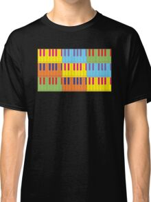 Music Keyboard Piano Synth Pop Art Classic T-Shirt
