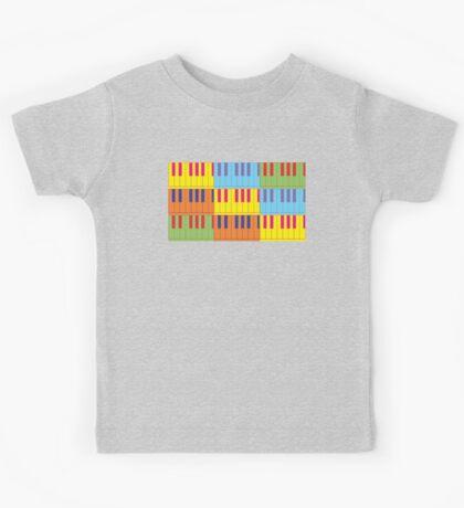 Music Keyboard Piano Synth Pop Art Kids Tee