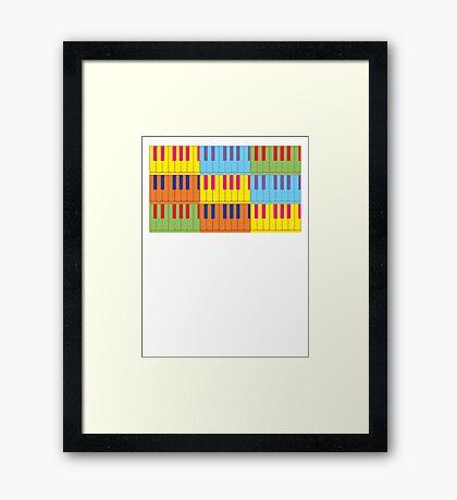 Music Keyboard Piano Synth Pop Art Framed Print