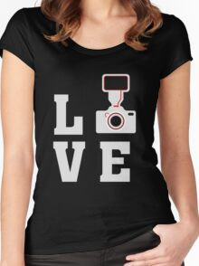 Love Photography - Photographer - Camera  Women's Fitted Scoop T-Shirt